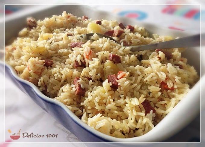 arroz de panela de pressão